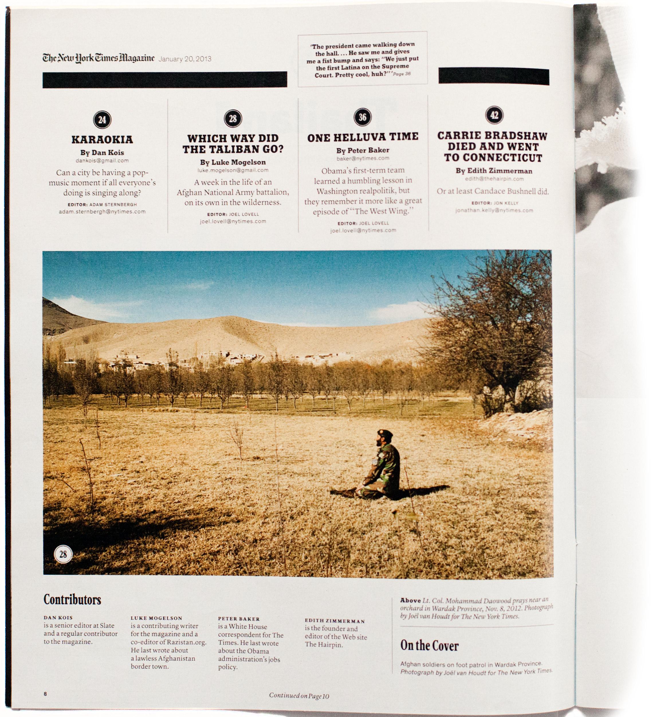 The New York Times Magazine Joel Van Houdt