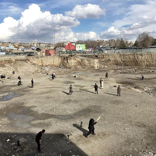 Friday cricket in the centre of Kabul. March 2, 2018 #afghanistan #iphone