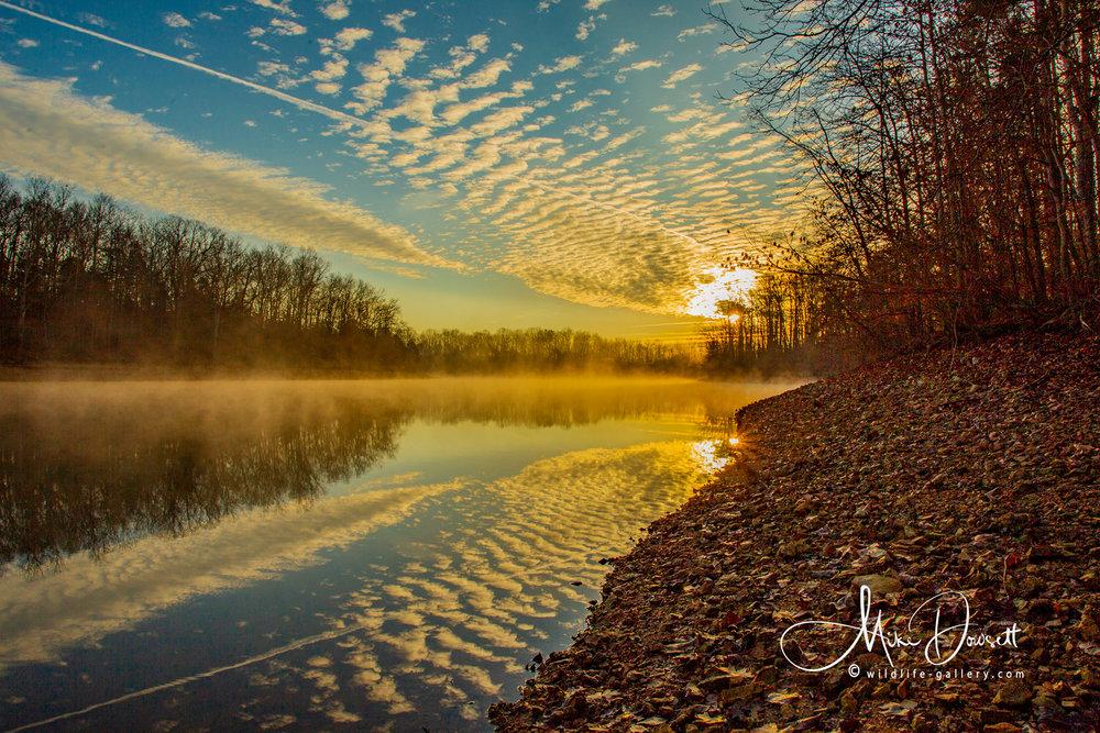 Lake side sunrise