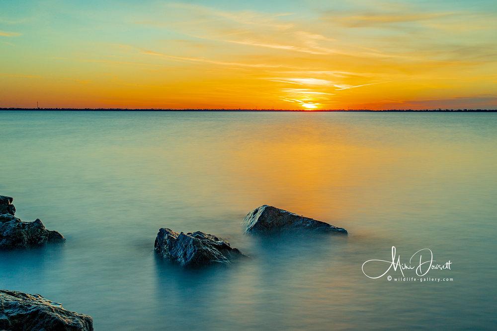 Sunrise over Lake Erie