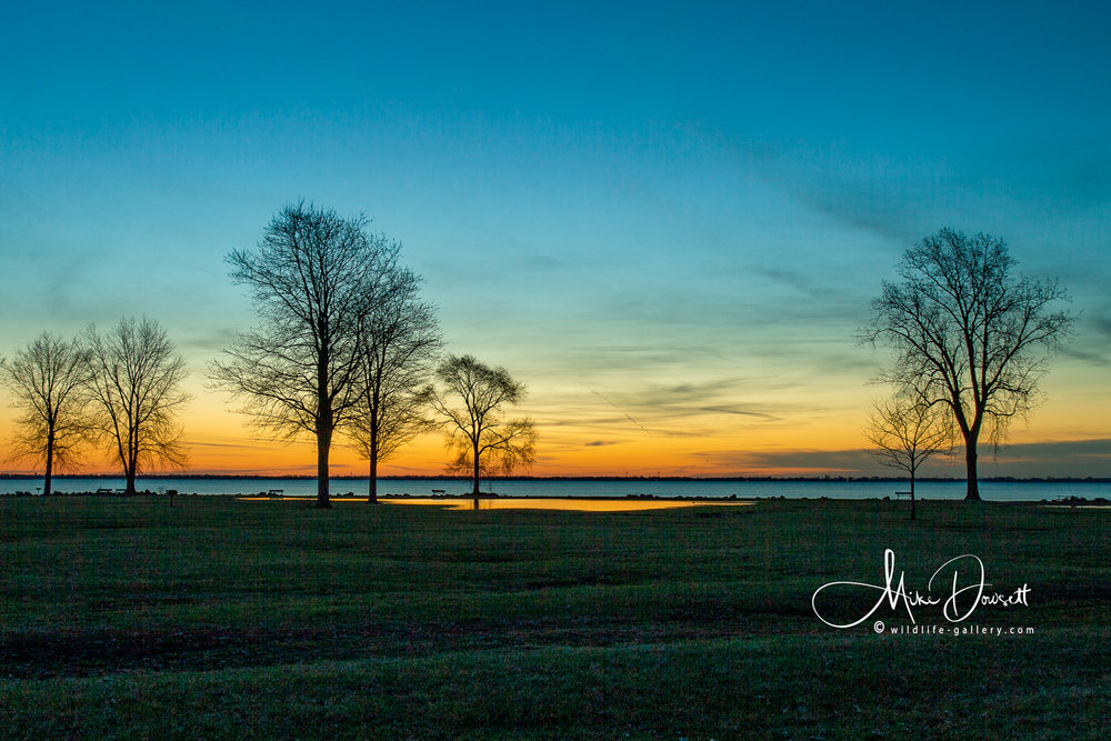 Pre-sunrise Detroit River
