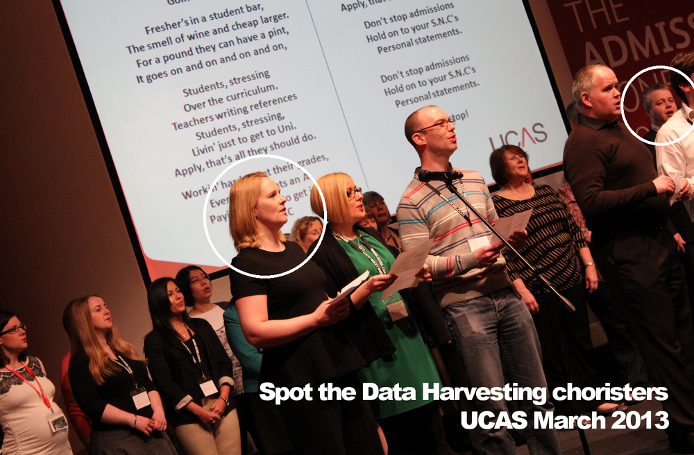 The Data Harvesting Choristers at UCAS