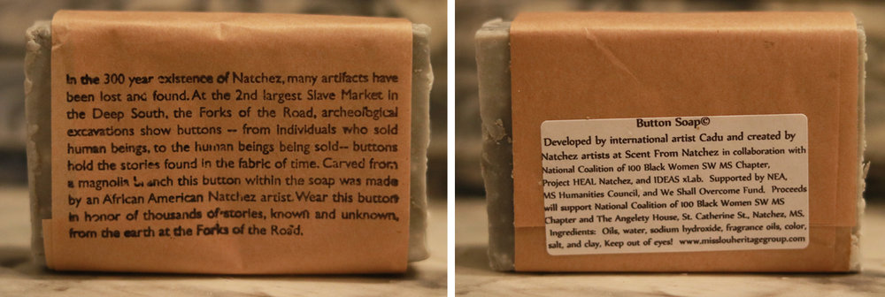Button Soap is handmade and packaged in Natchez, MS.
