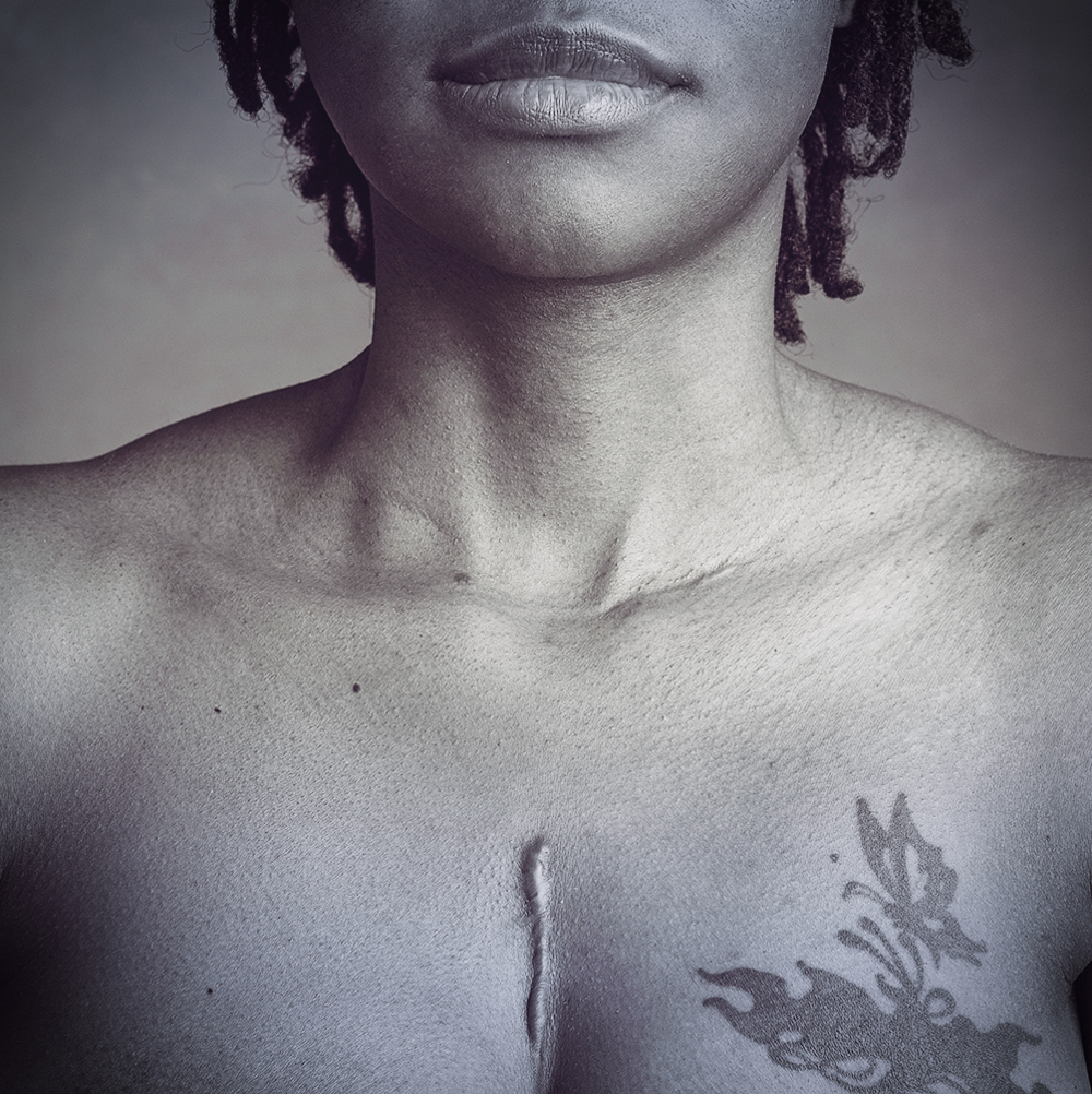 "Image by Kelsey Page of heARTstory participant Marquita ""Pinky"" Busby."