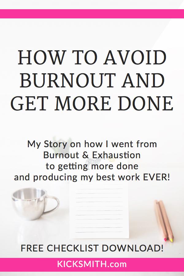 Kicksmith Blog - Avoiding Burnout