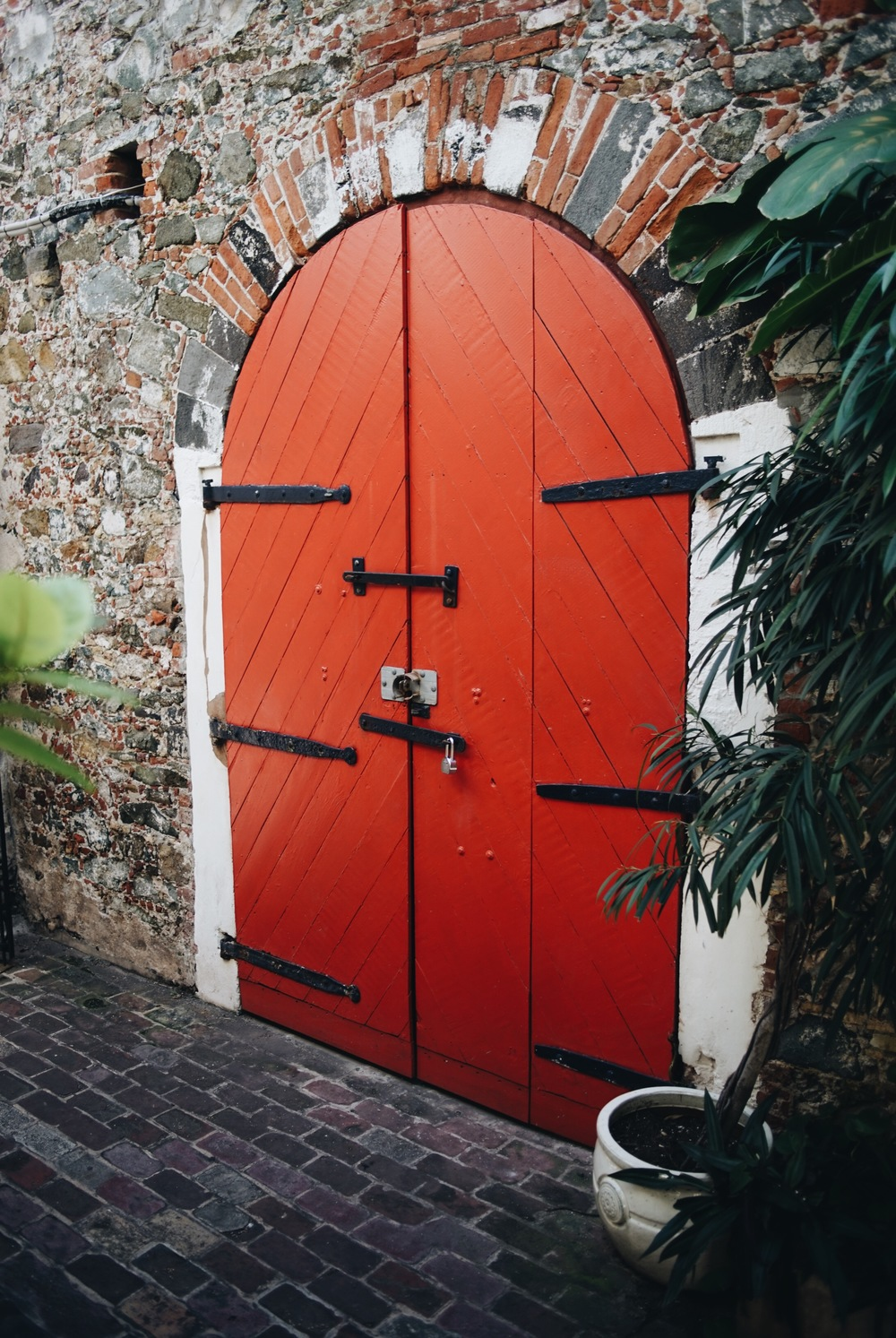 Just a red door in St. Thomas? Or gateway to another world?
