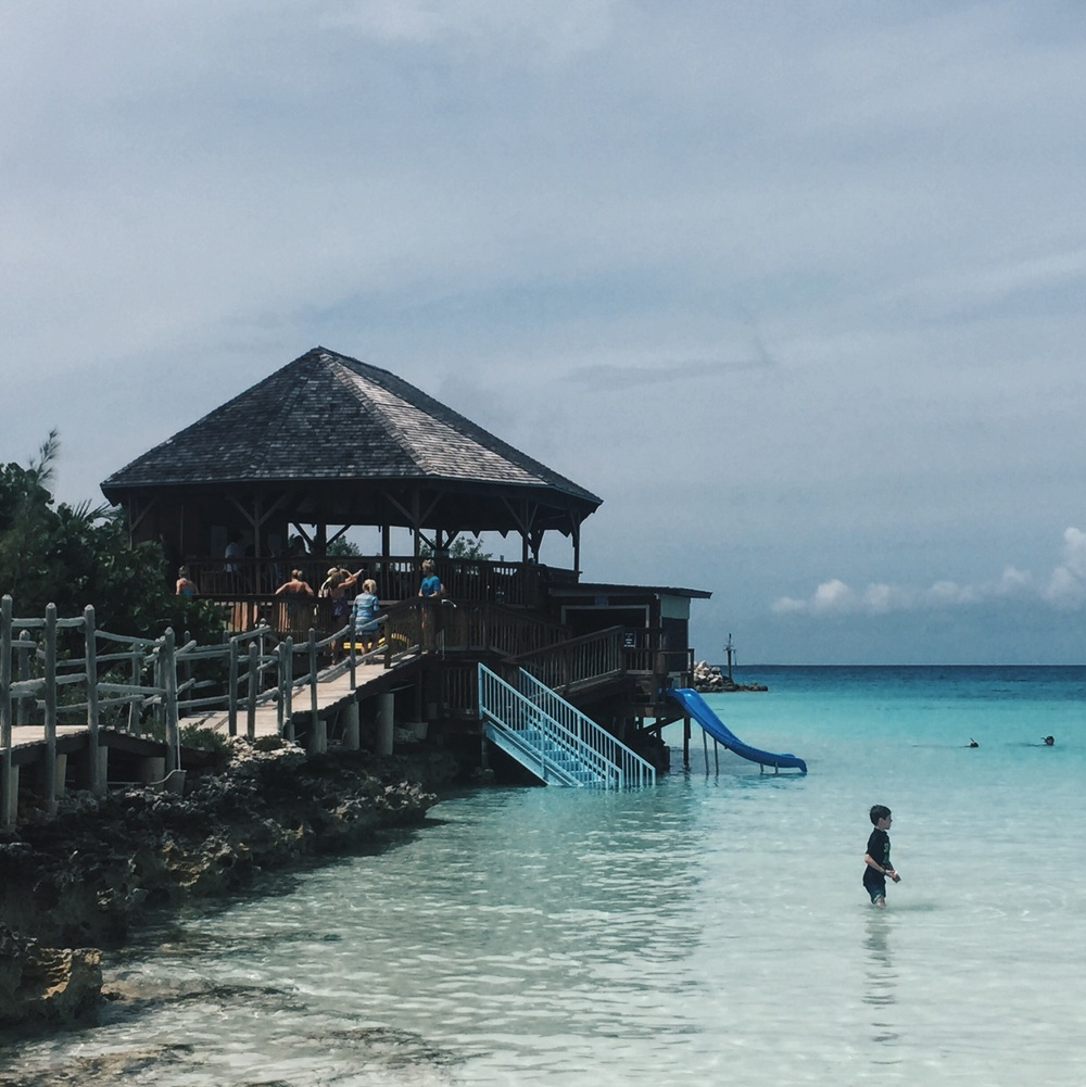 Didn't wanna leave this cabana behind in Half Moon Cay.