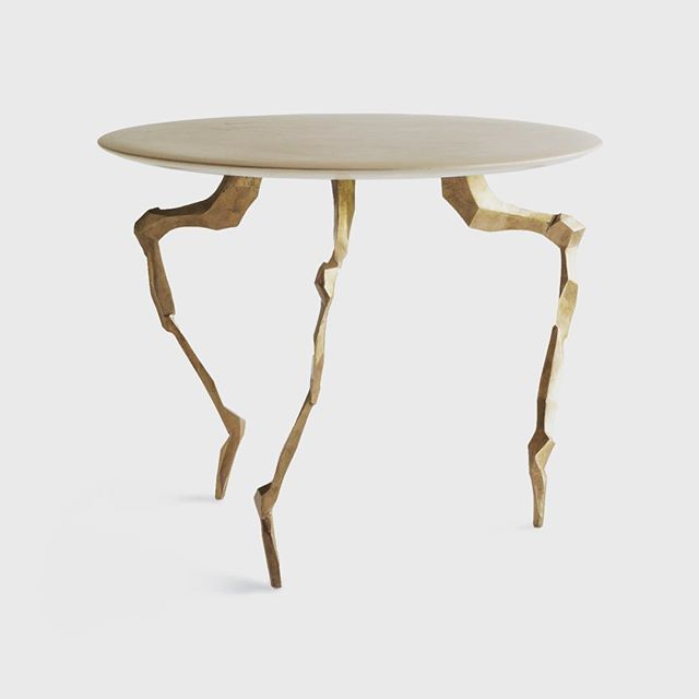 Another Moon Table out the door.  Cast bronze and marmorino. #creaturetable #furnituredesign #designbuild by #jakatelier #bronzecasting #interiordesign