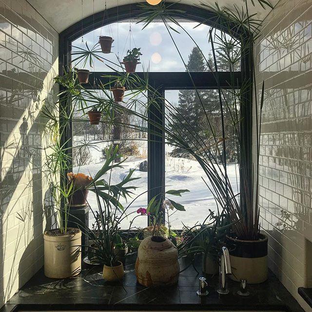 """Sunday morning brings the dawn in""  #bathroomdesign by #jakatelier #interiordesign #bath #designbuild #tile #subwaytile #soapstone #venetianplaster"