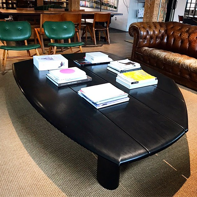 The Eunoia Table in its natural habitat at the @eastroom .  #designbuild by #jakatelier #furnituredesign #eunoiatable #coffeetable #shousugiban #eastroom