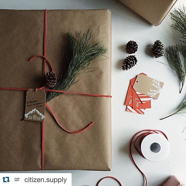 Love seeing my Christmas tags in this beautiful post from @citizen.supply. This will be great inspiration for tomorrow. #procrastination #christmas #wrappingpresents #letterpress #design #paper