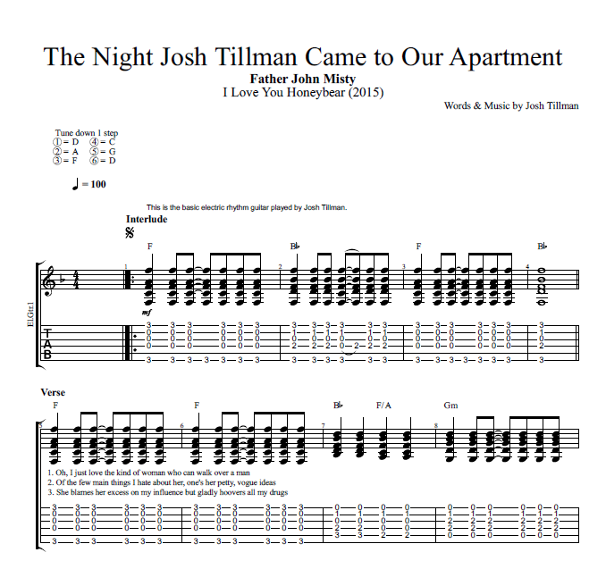 The Night Josh Tillman Came To Our Apartment By Father John Misty
