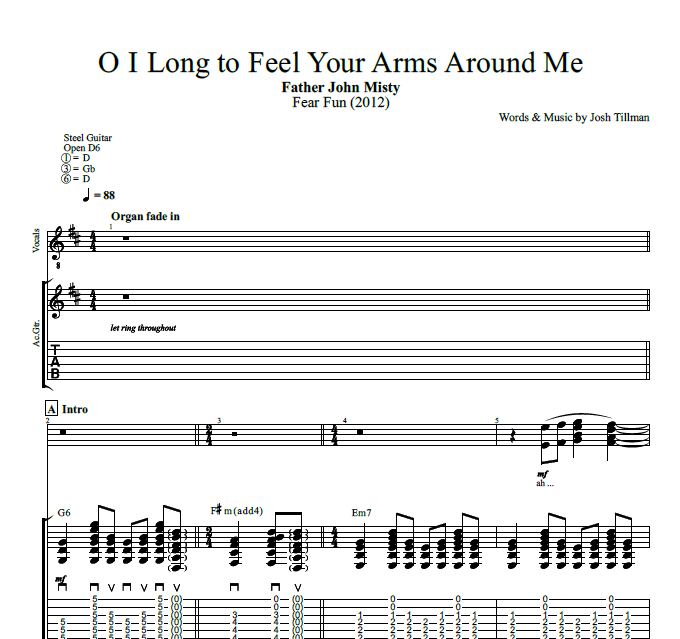 O I Long To Feel Your Arms Around Me By Father John Misty Guitar