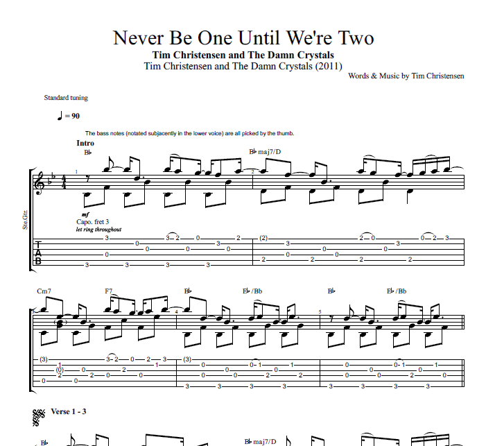 Never Be One Until We\'re Two\