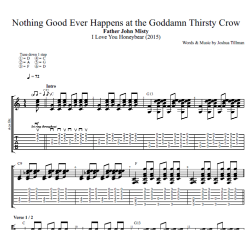 Nothing Good Ever Happens At The Goddamn Thirsty Crow By Father