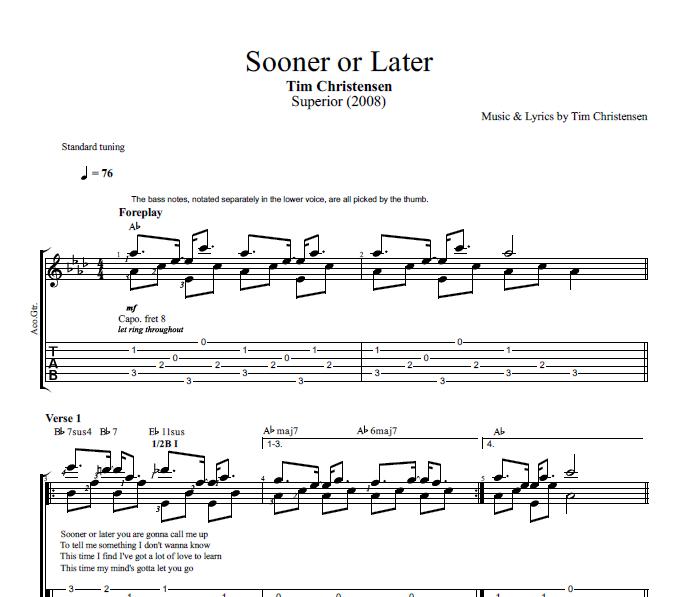 Sooner or Later\