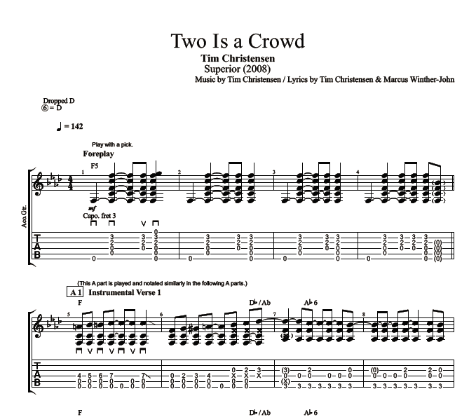 Two Is A Crowd By Tim Christensen Guitar Bass Mellotron