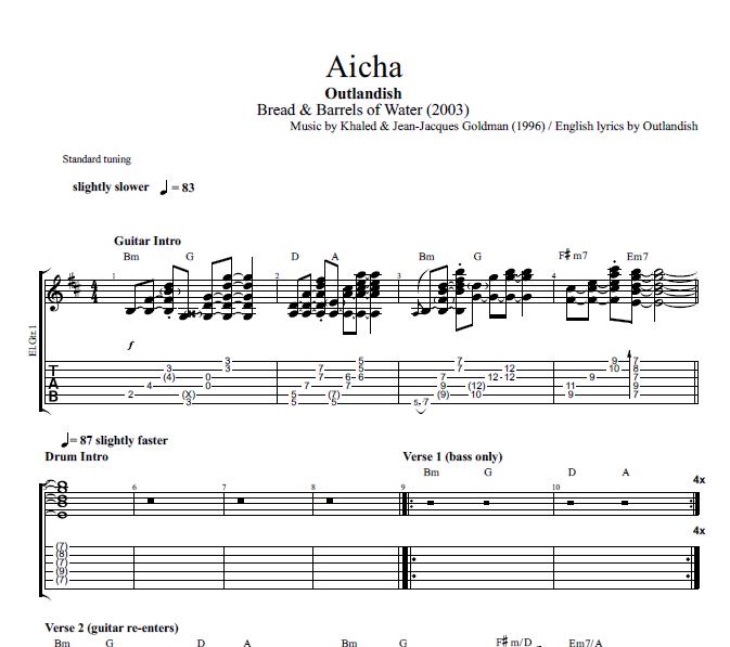 """""""Aicha"""" By Outlandish"""