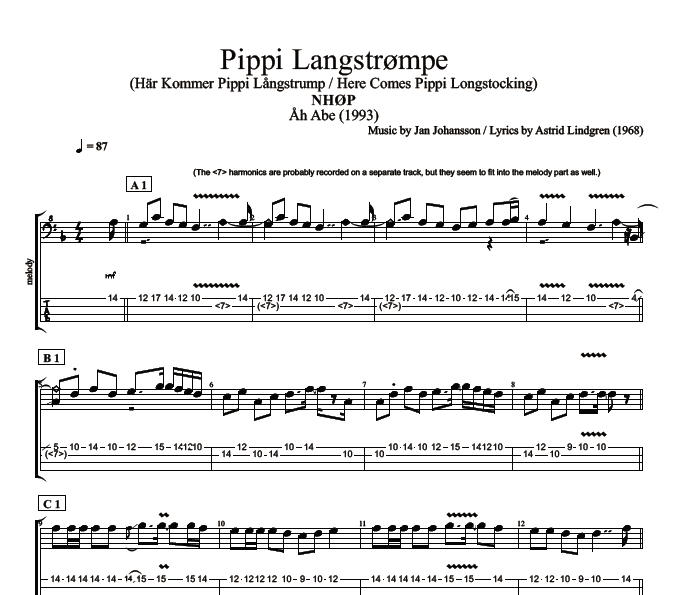 Pippi longstocking songs lyrics