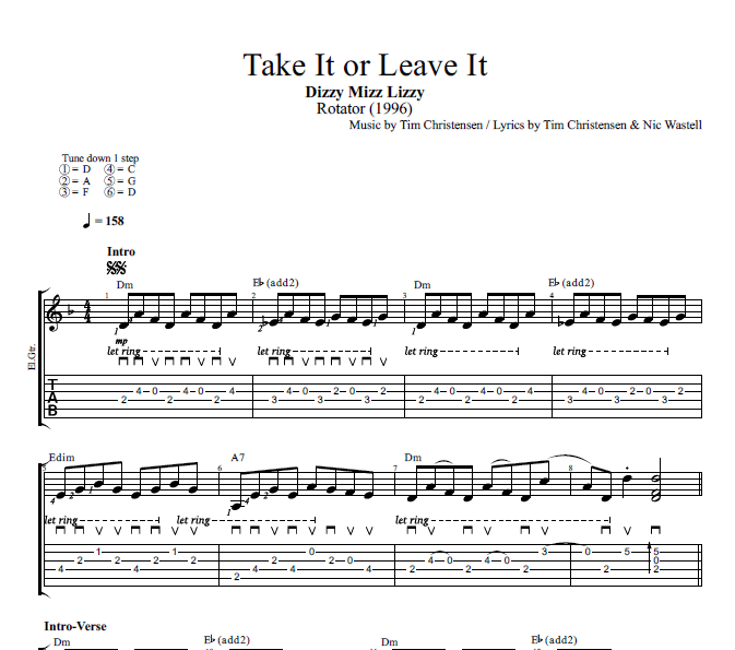 take it or leave chords