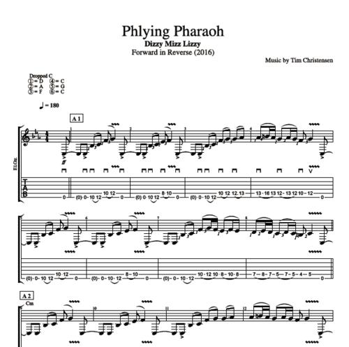 Phlying Pharaoh By Dizzy Mizz Lizzy Guitar Bass Tabs Chords