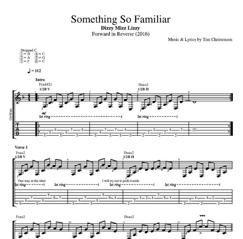 Something So Familiar By Dizzy Mizz Lizzy Guitar Bass Tabs