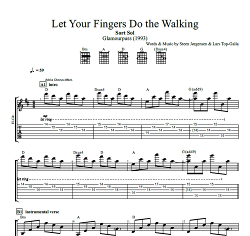 Let Your Fingers Do the Walking\