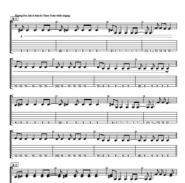 how to read guitar chord sheet music