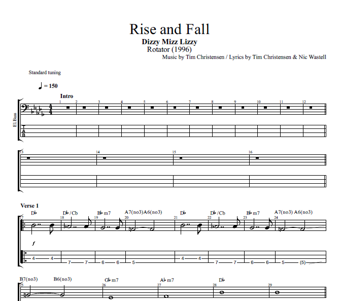Rise and Fall\