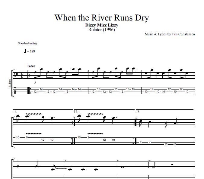 When the River Runs Dry\