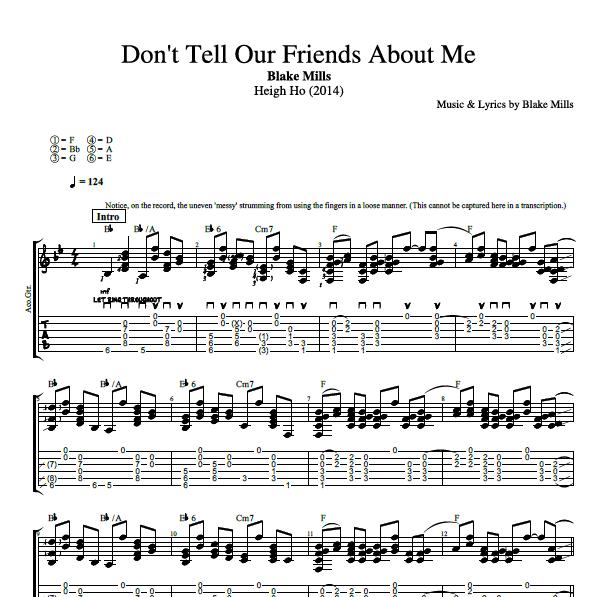 Dont Tell Our Friends About Me By Blake Mills Guitar Bass