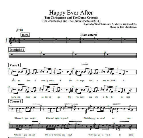 Happy Ever After By Tim Christensen Guitar Bass Vocal Tabs