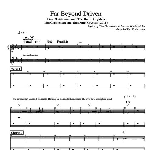 Far Beyond Driven By Tim Christensen Guitar Bass Vocal