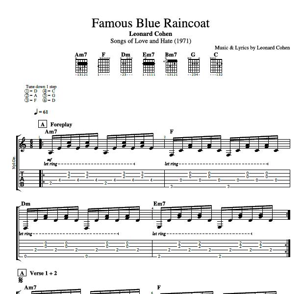 Famous Blue Raincoat\