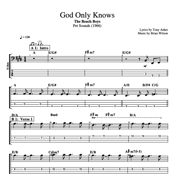 """God Only Knows"" by The Beach Boys 