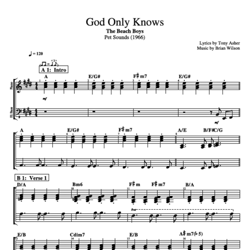 God Knows Guitar Chords