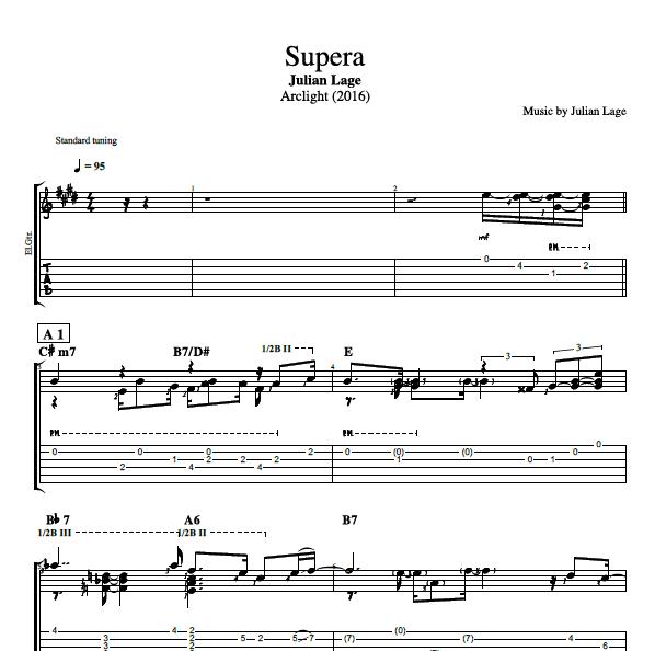 Supera By Julian Lage Guitar Bass Tabs Sheet Music Chords