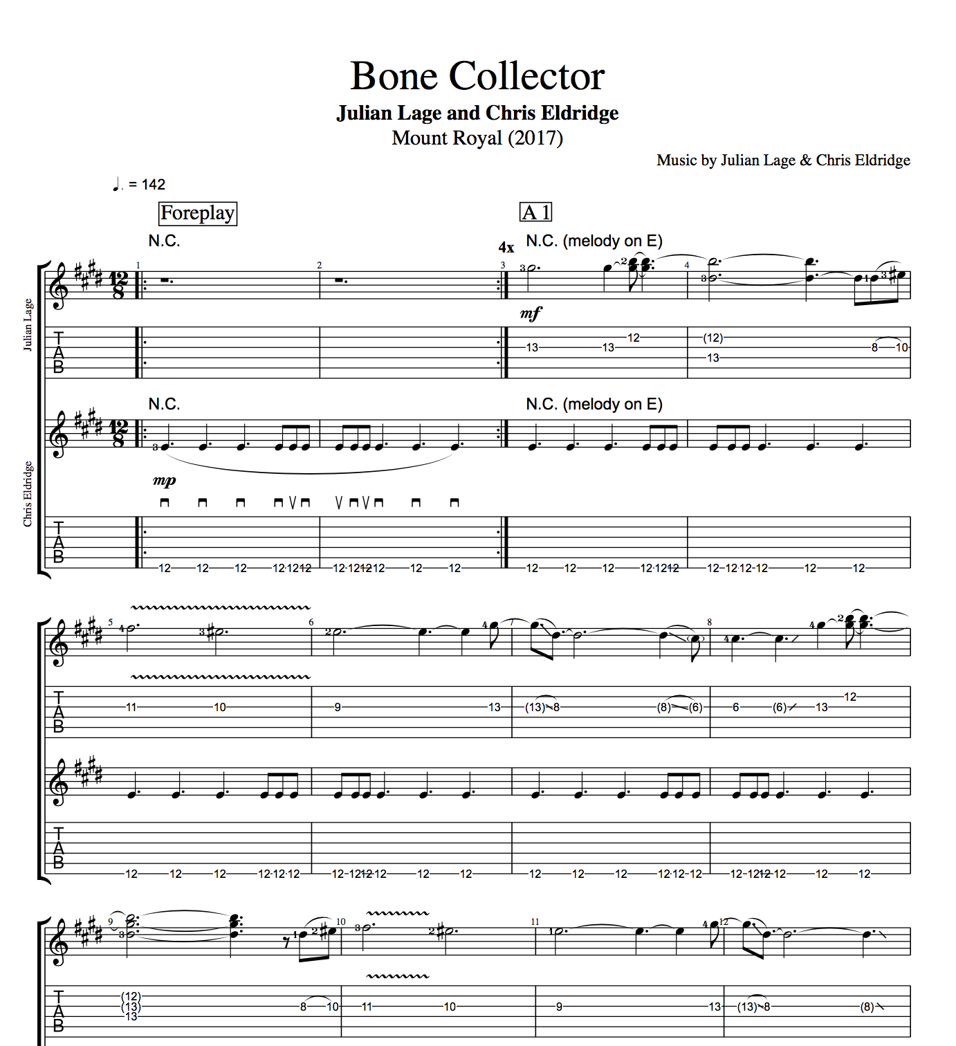 Bone collector by julian lage and chris eldridge guitars tabs play like the greats hexwebz Image collections