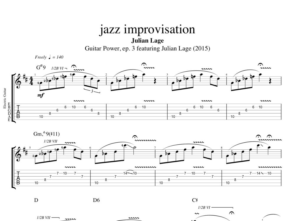 jazz improvisation @ Guitar Power, ep. 3 by Julian Lage || Guitar ...
