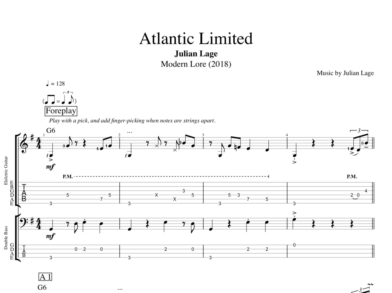 Atlantic Limited Modern Lore By Julian Lage Guitar Bass