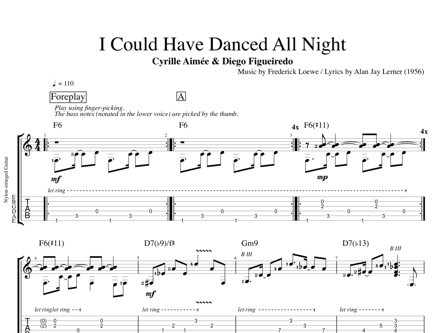 I Could Have Danced All Night By Cyrille Aime Diego Figueiredo