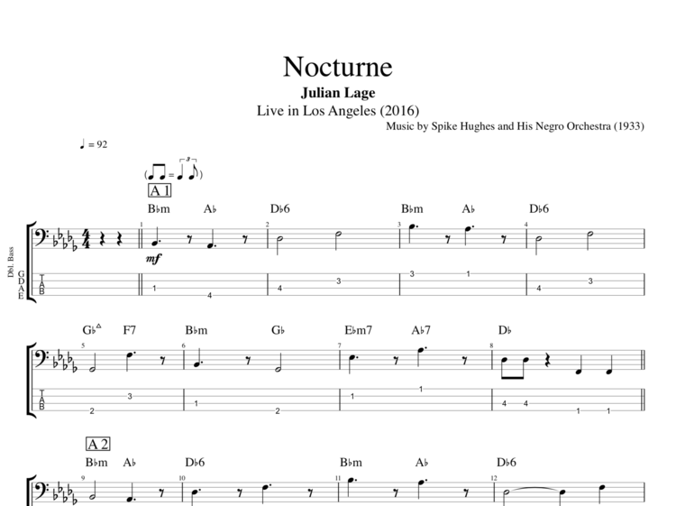 Nocturne Live In Los Angeles By Julian Lage Guitar Bass