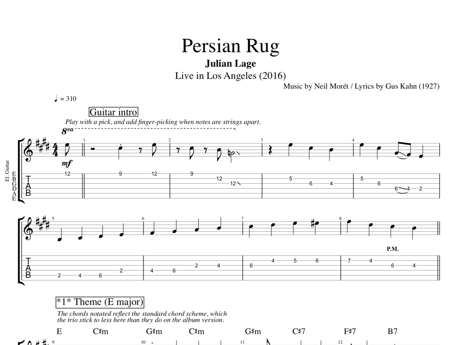 Persian Rug Live In Los Angeles By Julian Lage Guitar Bass