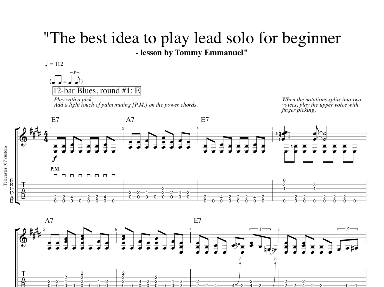 The Best Idea To Play Lead Solo For Beginner Lesson By Tommy