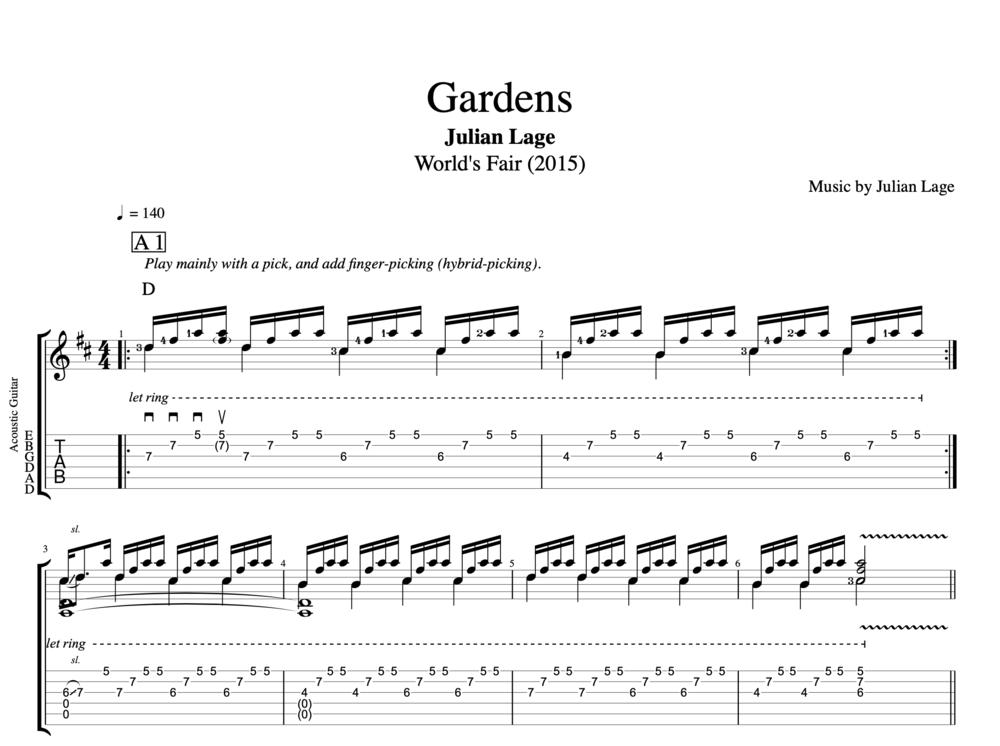 Gardens By Julian Lage Guitar Tab Sheet Music Chords Play