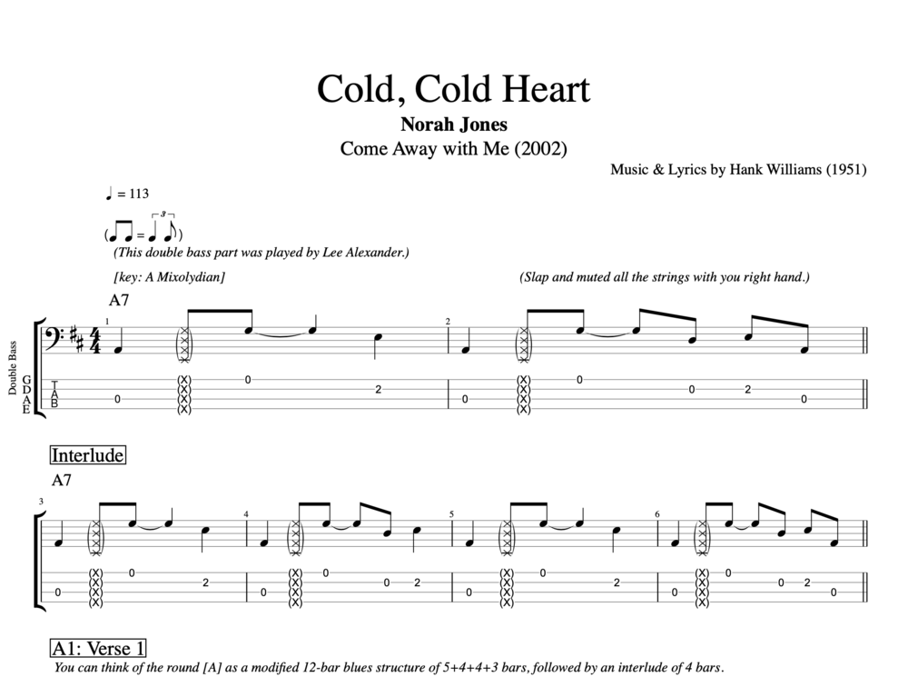 """Cold, Cold Heart"" By Norah Jones"