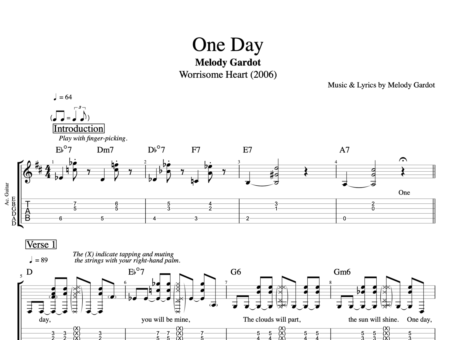 By Photo Congress || One Day Tabs Guitar
