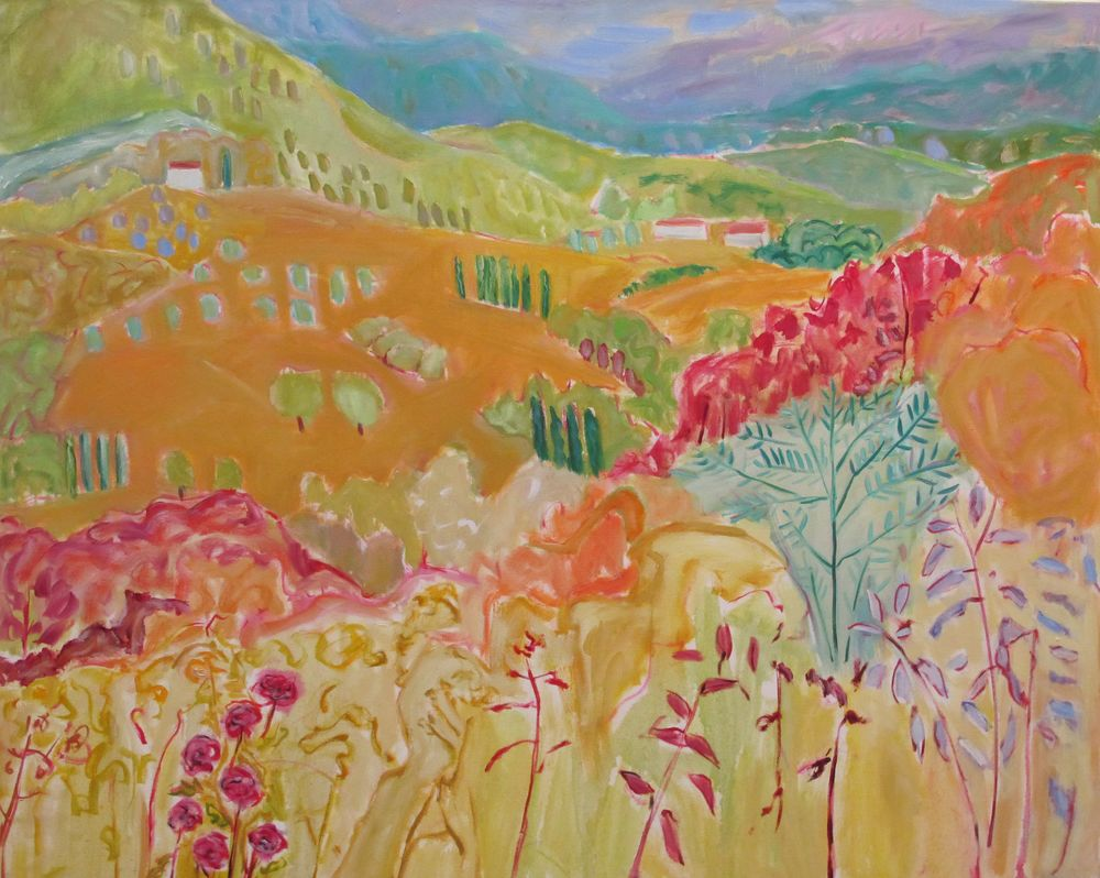 Near Perugia oil on canvas (48 x 60) inches