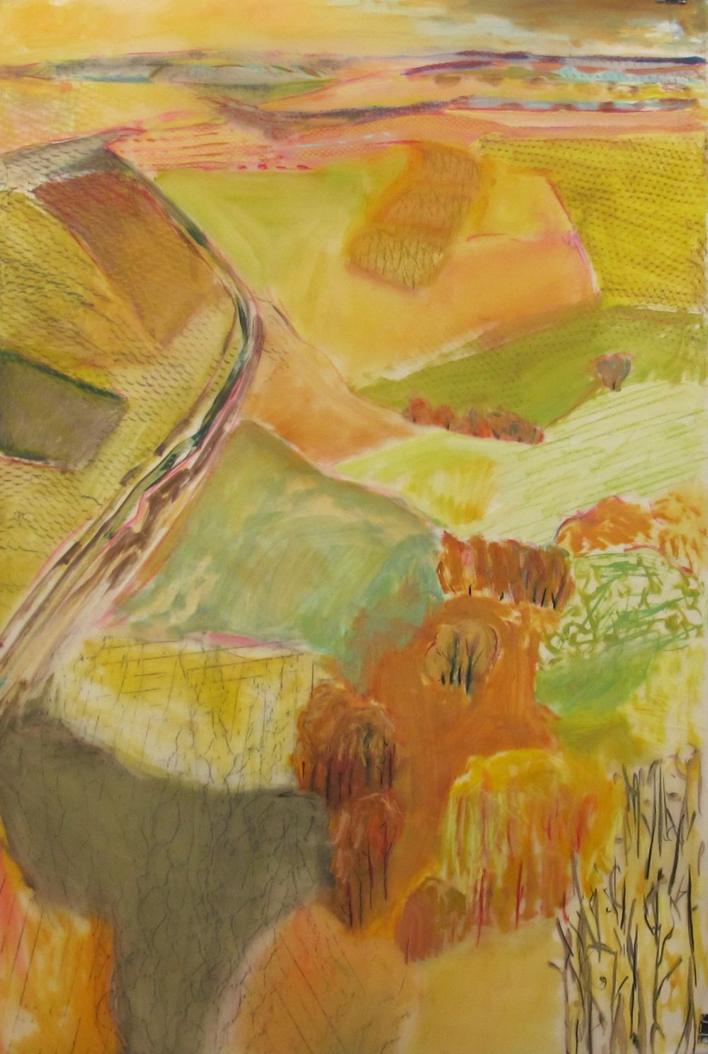 Lexan Land Study in Fall oil mixed media on lexan 72 x 48 inches.jpg