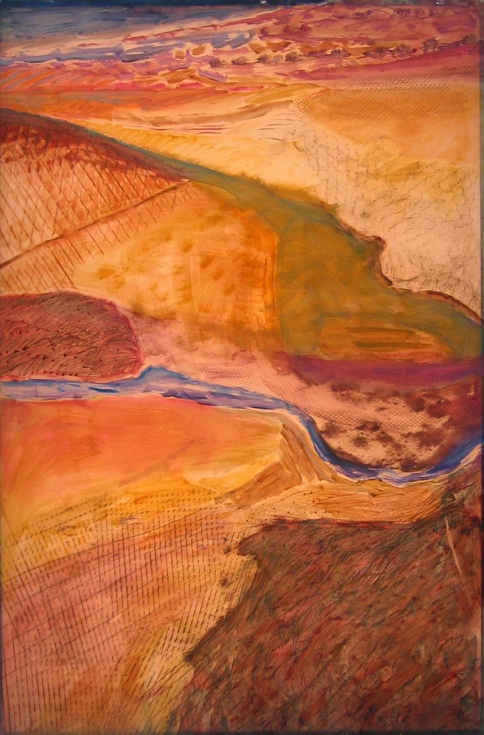Lexan Smooth Plains,oil on lexan (48 X 72)ins lit.jpg